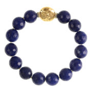 ROX by Alexa Color-Treated Blue Lapis Bead Stretch Bracelet