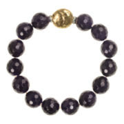 ROX by Alexa Color-Treated Purple Jade Bead Stretch Bracelet