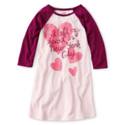 Joe Fresh™ Raglan-Sleeve Graphic Nightgown - Girls 4-14