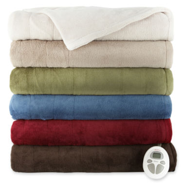 jcpenney.com | Sunbeam® Microplush Heated Blanket