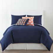 JCPenney Home™ 300tc Navy Duvet Cover & Accessories