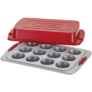 Cake Boss™ Deluxe Bakeware 12-Cup Covered Nonstick Muffin Pan