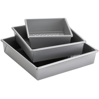 jcpenney.com | Cake Boss™ Professional Nonstick Bakeware 3-pc. Square Cake Pan Set