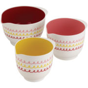 Cake Boss™ Melamine Countertop Accessories 3-pc. Melamine Mixing Bowl Se