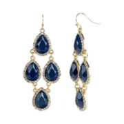 love struck™ Gold-Tone Navy Chandelier Earrings