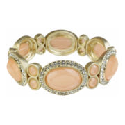 love struck™ Gold-Tone Peach Stretch Bracelet