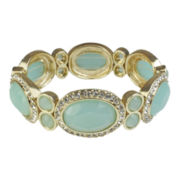 love struck™ Gold-Tone Mint Green Stretch Bracelet