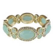 love struck™ Gold-Tone Mint Green Stretch Bracelet