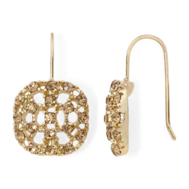 jcpenney.com | Monet® Topaz-Colored Gold-Tone Drop Earrings