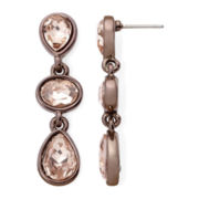 Monet® Peach Stone Bronze-Tone Earrings