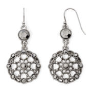 Liz Claiborne Marcasite Double-Drop Earrings