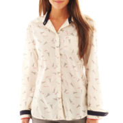 jcp™ Long-Sleeve Relaxed-Fit Print Shirt - Tall
