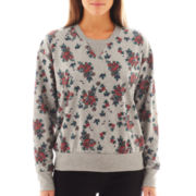 I 'Heart' Ronson® Long-Sleeve Floral Screen Print Sweatshirt