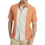 Van Heusen® Short-Sleeve Paneled Shirt