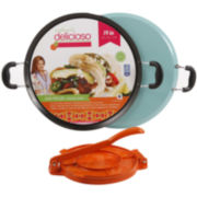 "Simplemente Delicioso San Miguel 14"" Comal Pan with Tortilla Press"
