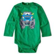 Okie Dokie® Long-Sleeve Graphic Bodysuit - Boys newborn-9m
