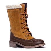 MUK LUKS® Lori Faux-Fur Cuffed Womens Boots