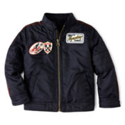 Arizona Zip-Front Moto Jacket – Boys 2t-6