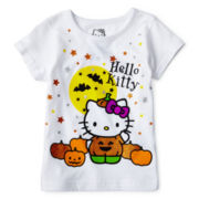 Hello Kitty® Short-Sleeve Halloween Knit Tee – Girls 2t-6