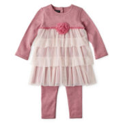 Wendy Bellissimo™ 2-pc. Ruffle Tunic and Pants Set – Girls 6m-24m