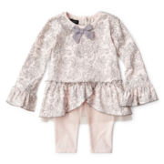 Wendy Bellissimo™ 2-pc. Knit Tunic and Pants Set – Girls 6m-24m