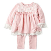 Wendy Bellissimo™ 2-pc. Lace Tunic and Pants Set – Girls 6m-24m