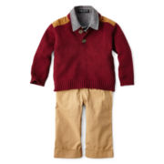 Wendy Bellissimo™ 3-pc. Sweater, Shirt and Pants Set – Boys newborn-24m