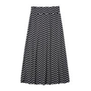 by&by Girl Chevron Print Maxi Skirt - Girls 7-16