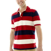 St. John's Bay® Rugby-Striped Legacy Piqué Polo