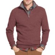 Arrow® Sueded Quarter-Zip Fleece Sweater
