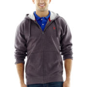 U.S. Polo Assn.® Long-Sleeve Zip-Front Fleece Hoodie