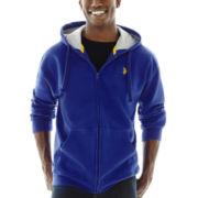 U.S. Polo Assn.® Long-Sleeve Zip-Front Fleece Hoodie