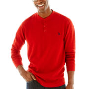 U.S. Polo Assn.® Long-Sleeve Solid Thermal Henley