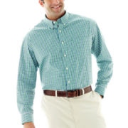 IZOD® Long-Sleeve Saltwater Poplin Shirt–Big & Tall