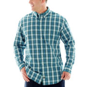 IZOD® Long-Sleeve Tartan Plaid Shirt–Big & Tall