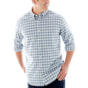 IZOD® Long–Sleeve Stratton Plaid Woven Shirt–Big & Tall