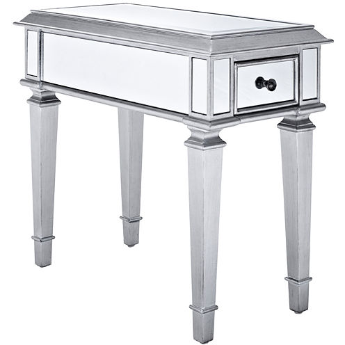 """Garbo Mirrored 24"""" Side Table"""