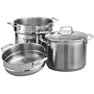 jcpenney.com | Tramontina® Gourmet 4-pc. Tri-Ply 8-qt. Multi-Cooker