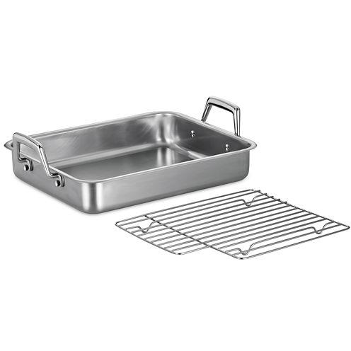 "Tramontina® Gourmet 13½"" Stainless Steel Roasting Pan"