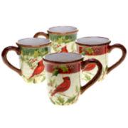 Certified International Winter Wonder Set of 4 Mugs