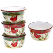 Certified International Winter Wonder Set of 4 Ice Cream Bowls