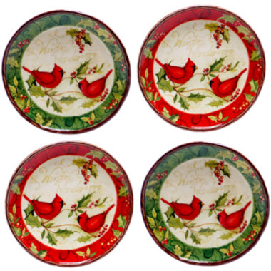 jcpenney.com | Certified International Winter Wonder Set of 4 Canapé Plates