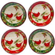 Certified International Winter Wonder Set of 4 Canapé Plates
