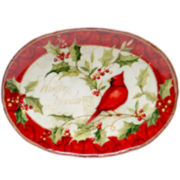Certified International Winter Wonder Oval Serving Platter