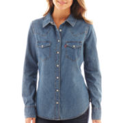 Levi's® Long-Sleeve Tailored Western Denim Shirt