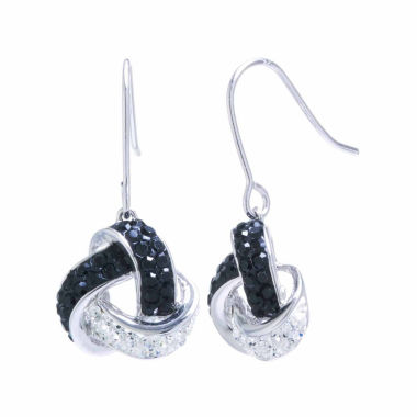 jcpenney.com | Sparkle Allure Crystal Silver Over Brass Drop Earrings