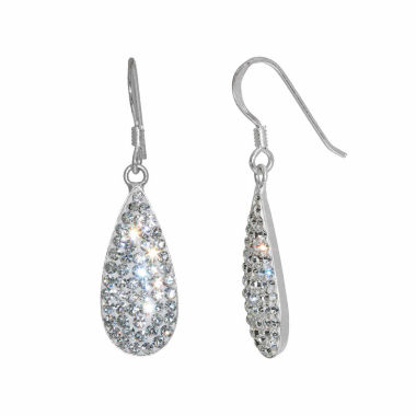 jcpenney.com | Footnotes Crystal Silver Over Brass Drop Earrings