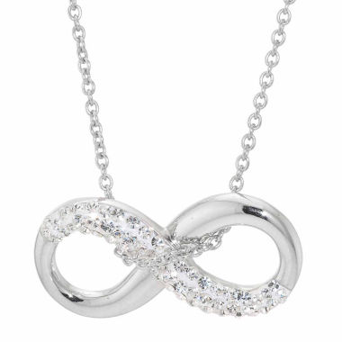 jcpenney.com | Sparkle Allure Crystal Silver Over Brass Pendant Necklace