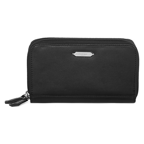 Perlina Nappa Leather Double Zip Wallet