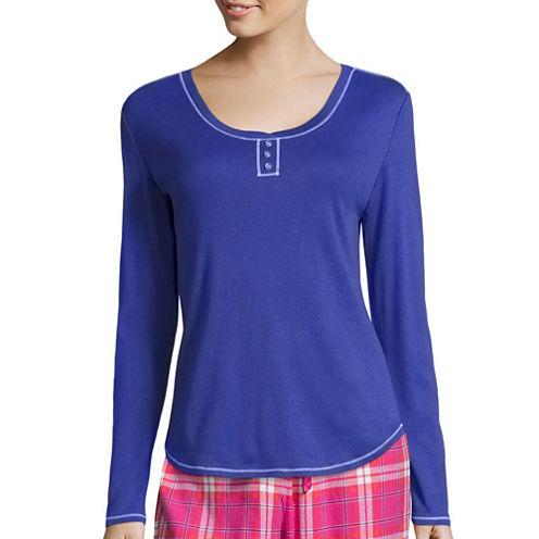 Sleep Chic Long Sleeve Pajama Top
